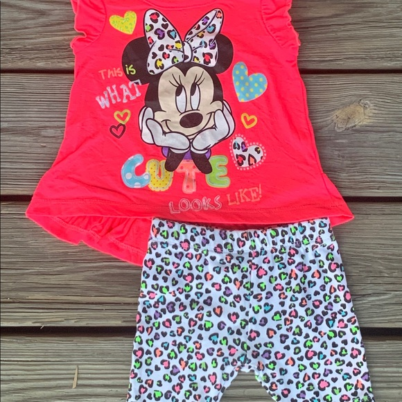 Disney's Girl Minnie Mouse Short Sleeve outfit 24m